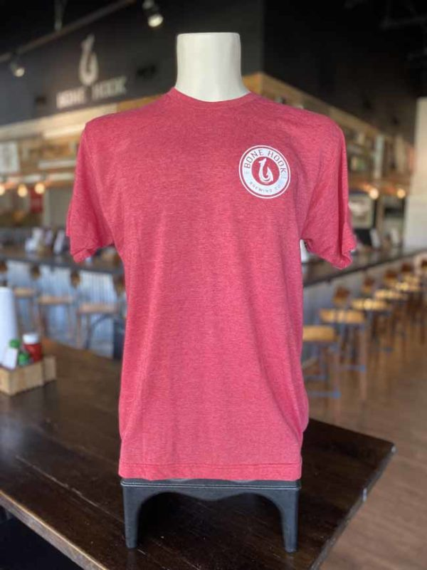 Red 'Drink Local' T-shirt, Bone Hook Brewing Company, Naples, FL